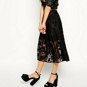 ❤HOST PICK!❤ ASOS Petite layered black skirt, EUC